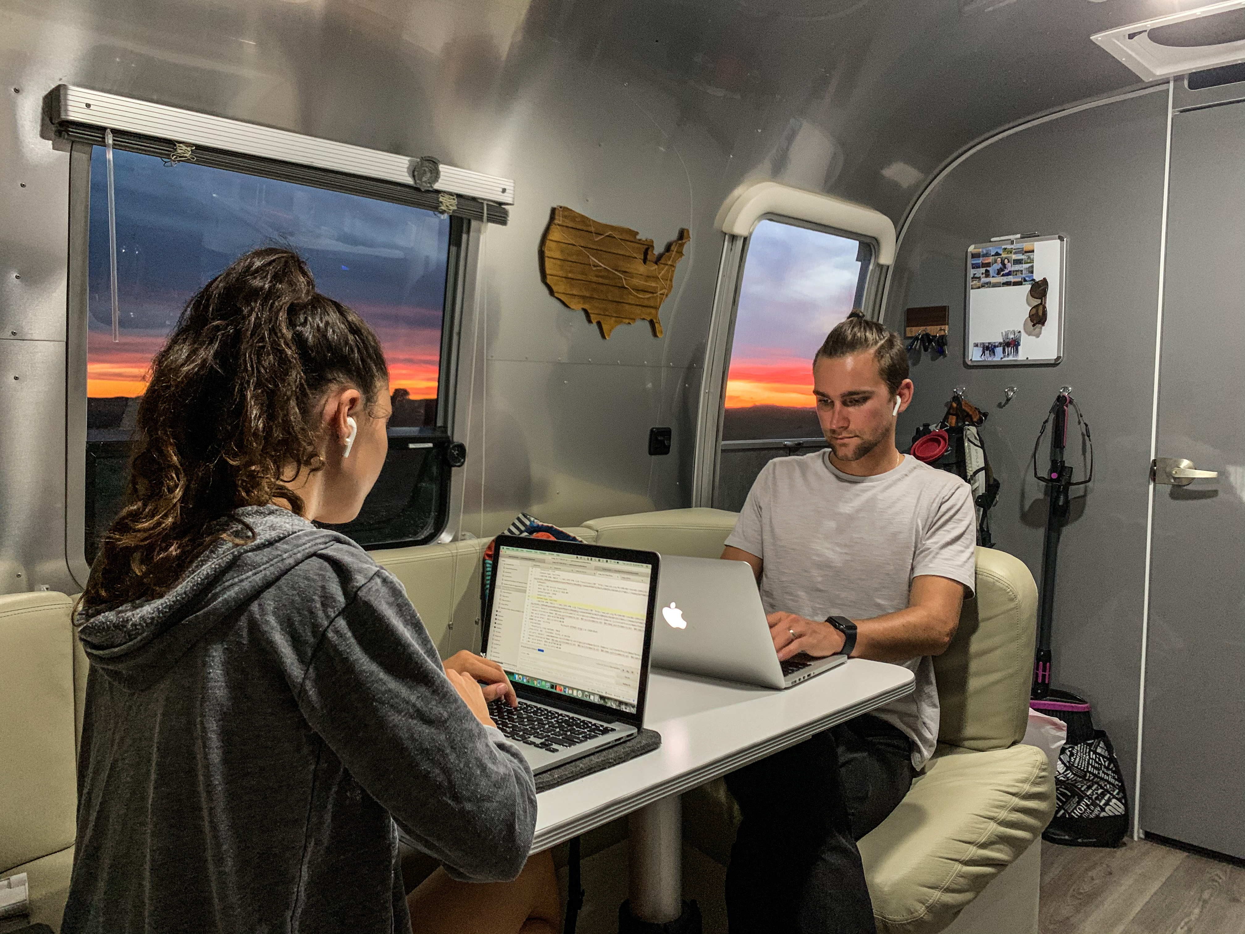 Working from the Airstream